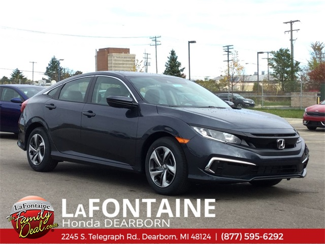 New 2019 Honda Civic LX FWD 4D Sedan Automatic