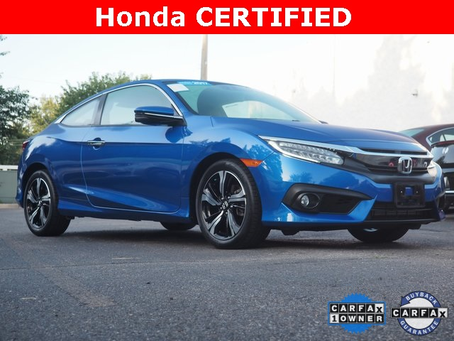 Honda Civic Certified Pre Owned >> Certified Pre Owned 2017 Honda Civic Touring Fwd 2d Coupe